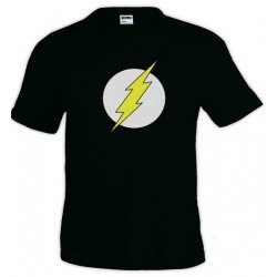 Camiseta Sheldon Flash negra - The Big Bang Theory