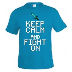 Camiseta Minecraft Keep Calm fight on