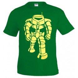 Camiseta Sheldon Manbot -Big Bang Theory- verde