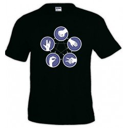 Camiseta The Big Bang Theory piedra,papel,tijera,lagarto,Spok