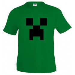 camiseta Minecraft Creeper - Verde