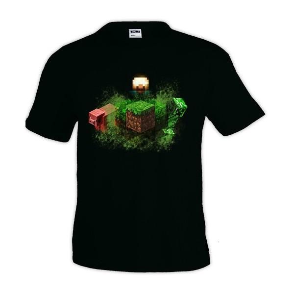 Camiseta Minecraft - Personajes en grupo