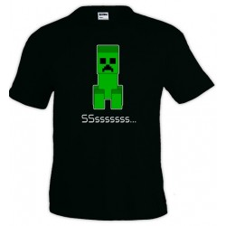 Camiseta Minecraft Creeper Ssss
