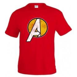 Camiseta avengers - Logo amarillo
