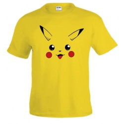 Camiseta Pokemon - Pikachu de cara custom