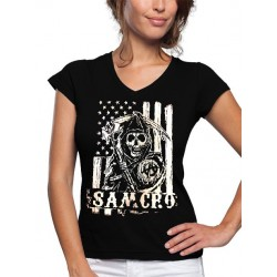Camiseta Sons Of Anarchy Samcro Mujer