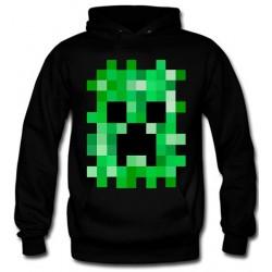 Sudadera Minecraft Creeper pixelado con capucha