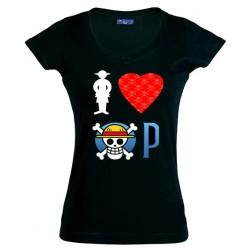 Camiseta One Piece de chica - I Love