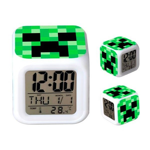 Reloj Despertador Minecraft Creeper