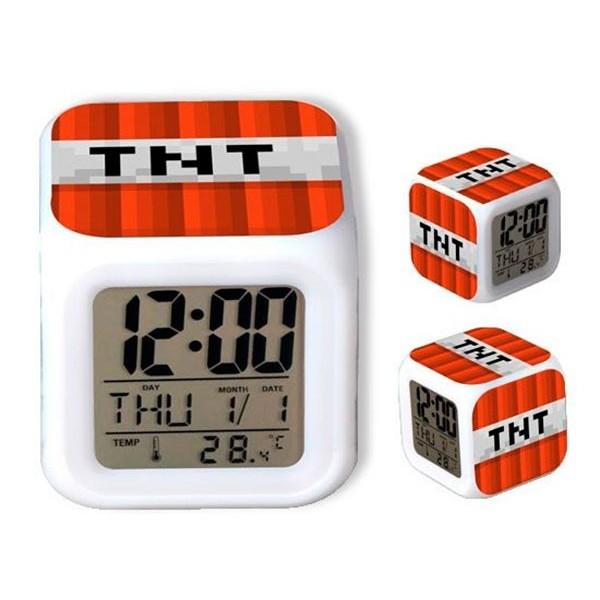 Reloj Despertador Minecraft TNT