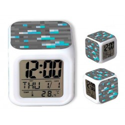 Reloj Despertador Minecraft Diamante