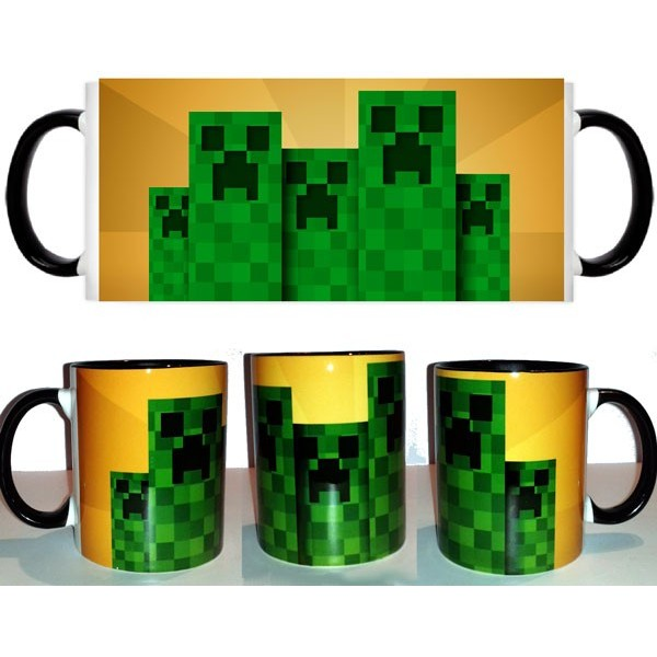 Taza Creeper fondo amarillo