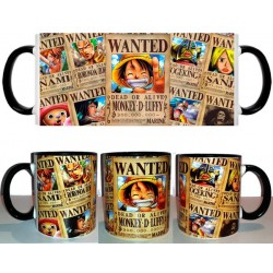 Taza One Piece Wanted Luffy
