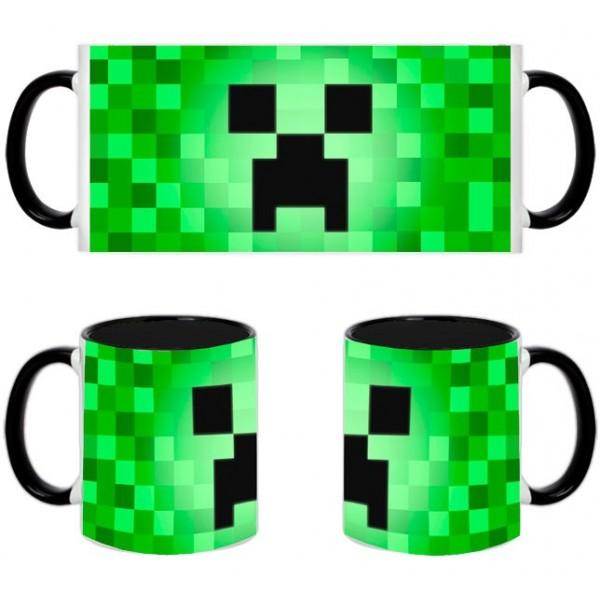 Taza Minecraft Creeper Pixelado