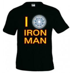 Camiseta Ironman - I Love - Unisex