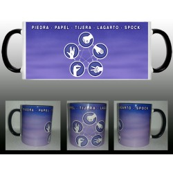 Taza The Big Bang Theory - Piedra Papel Tijera Lagarto Spock
