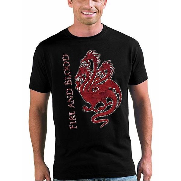 Camiseta Juego de tronos Dragon 3 cabezas - Fire & Blood