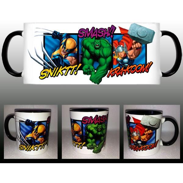 Taza de Thor, Hulk , Lobezno