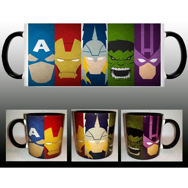 Taza Avengers Caras