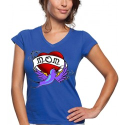 "Camiseta día de la madre ""Mom Heart"" manga corta"