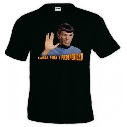 Camiseta Star Trek - Spok larga vida