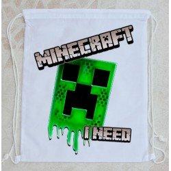 Bolsa Mochila Minecraft I Need