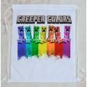 Bolsa Mochila Minecraft Creeper Colors