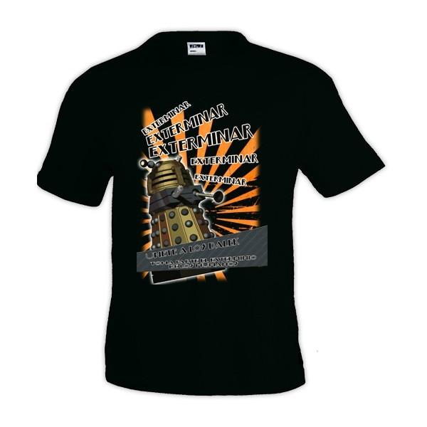 Camiseta Doctor Who - Dalek exterminar exterminar - manga corta
