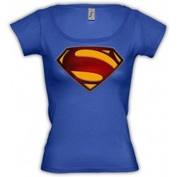 Camiseta Superman logo 2013 custom-1 de Chica