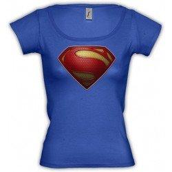 Camiseta Superman logo 2013 custom-classic Marca Estilo de Chica