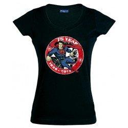 Camiseta Mujer Superman 75 aniversario