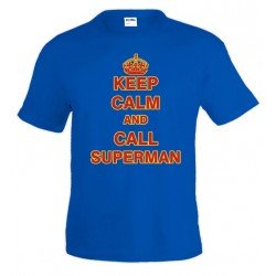 Camiseta Keep Calm and call Superman