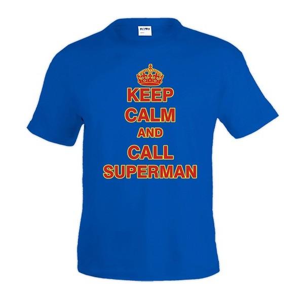 Camiseta Keep Calm and call Superman