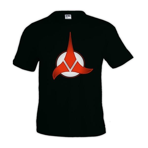 Camiseta Star Trek con logo Klingon