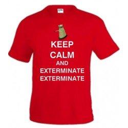 Camiseta Keep Calm and Exterminate - Doctor Who