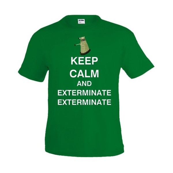 Camiseta Keep Calm and Exterminate - Doctor Who