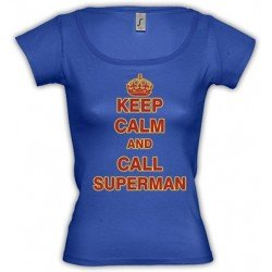 Camiseta Keep Calm and call Superman para chicas