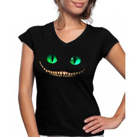 Camiseta Mujer Cheshire de Alicia a través del espejo