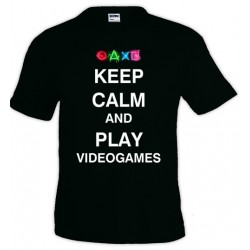 Camiseta Keep Calm and Play Videogames