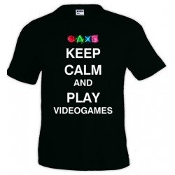 Camiseta Keep Calm and Play Videogames