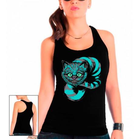 Camiseta mujer Cheshire diseño Blue de tirantes