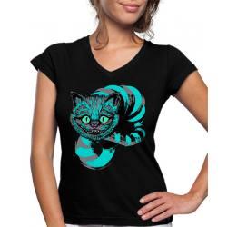 Camiseta Mujer Cheshire diseño blue