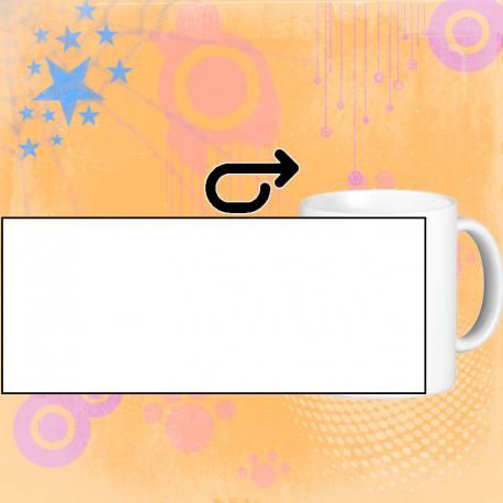 Personalizar taza blanca de cerámica