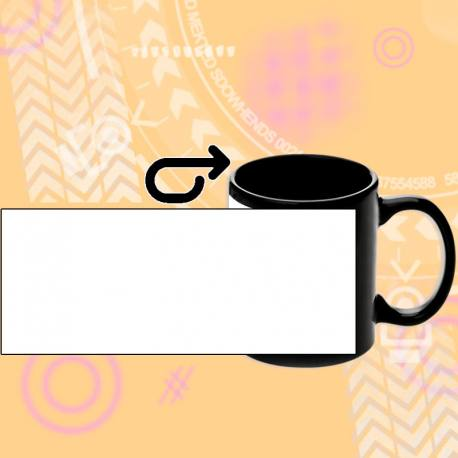 personalizar taza Negra de cerámica