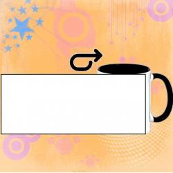 Personalizar taza cerámica interior y asa en negro