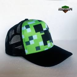 Gorra Minecraft Creeper Pixelado
