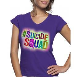 Camiseta Mujer Escuadrón Suicida Logo