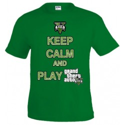 Camiseta Keep Calm and play Grand Theft Auto 5