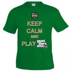 Camiseta Keep Calm and play Grand Theft Auto 5