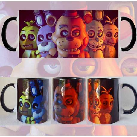 Taza Five Nights at Freddys Colores